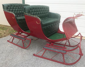 2 seated sleigh